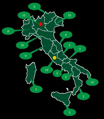 rete vendita territorio italiano - Forniture luce e gas - Egeria Energie